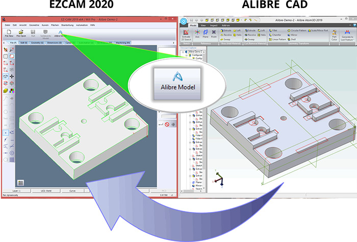 Ezcam 2020 - Updated Data Transfer from ALIBRE CAD System